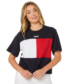 NAVY WOMENS CLOTHING HUFFER TEES - WTE84S75NVY