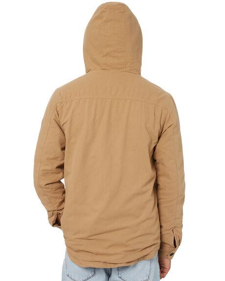 DARK KHAKI MENS CLOTHING RIP CURL JACKETS - CJKBB99660