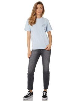 PALE SLATE WOMENS CLOTHING RUSTY TEES - TTL0994PAT
