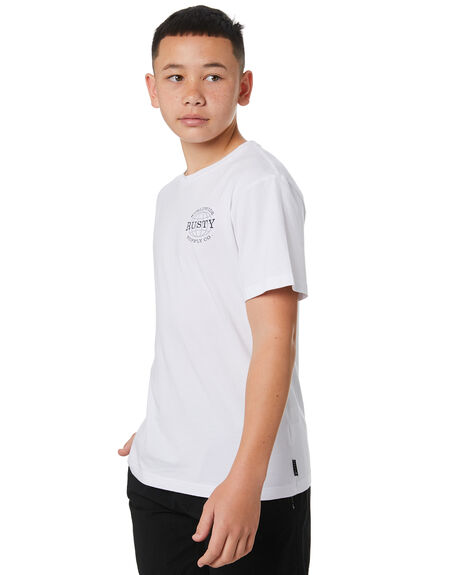 WHITE KIDS BOYS RUSTY TOPS - TTB0678WHT