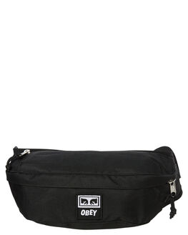BLACK MENS ACCESSORIES OBEY BAGS + BACKPACKS - 100010093BLK