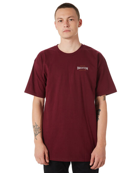 BURGUNDY OUTLET MENS BRIXTON TEES - 06779BRGDY