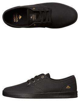 BLACK MENS FOOTWEAR EMERICA SKATE SHOES - 6102000089-001