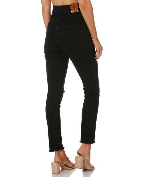 SKINNY BLACK WOMENS CLOTHING TACOOLA JEANS - BLKFOXSKINM