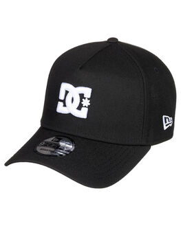 BLACK MENS ACCESSORIES DC SHOES HEADWEAR - ADYHA03922-KVJ0