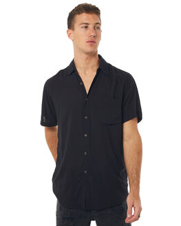 BLACK MENS CLOTHING THE PEOPLE VS SHIRTS - STSH17-BLK