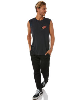 BLACK MENS CLOTHING SANTA CRUZ SINGLETS - SC-MTA8751BLK