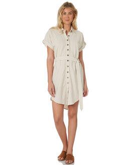 STRIPE TEXTURE WOMENS CLOTHING SAINT HELENA DRESSES - SHS19102STP