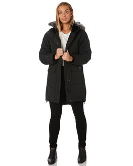 BLACK WOMENS CLOTHING RUSTY JACKETS - JKL0383BLK