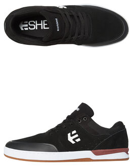 BLACK WHITE MENS FOOTWEAR ETNIES SKATE SHOES - 4101000454BLKW