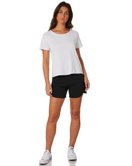 BLACK WOMENS CLOTHING HURLEY SHORTS - AQ3201010