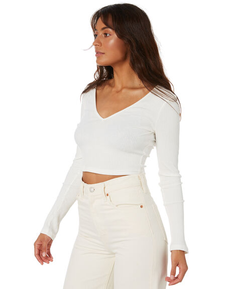 WHITE WOMENS CLOTHING TOBY HEART GINGER FASHION TOPS - T1476TWHT