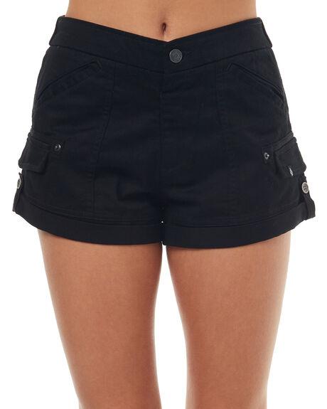BLACK WOMENS CLOTHING VOLCOM SHORTS - B0931775BLK