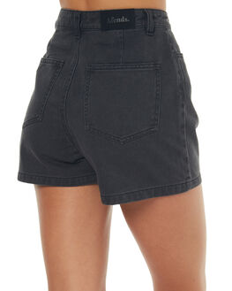 STONE BLACK WOMENS CLOTHING AFENDS SHORTS - 52-01-083STBK