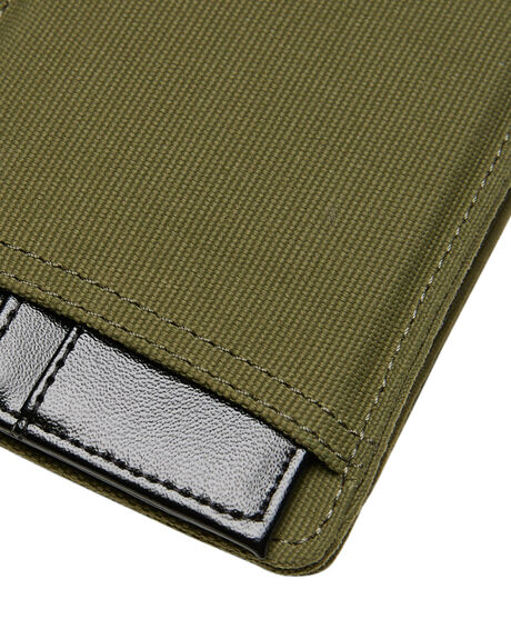 OLIVE CANVAS MENS ACCESSORIES HURLEY WALLETS - HU0025395