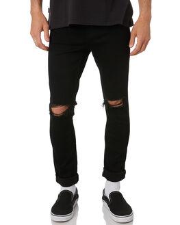 WILD DOG BLACK MENS CLOTHING WRANGLER JEANS - W-901789-NU3