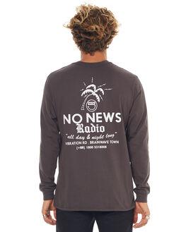 WASHED BLACK MENS CLOTHING NO NEWS TEES - N5171101WSHBK