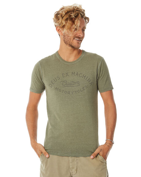 LICHEN MENS CLOTHING DEUS EX MACHINA TEES - DMF81541BLCHN