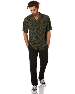 ARMY GREEN COMBO MENS CLOTHING VOLCOM SHIRTS - A0412004ARC