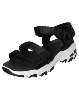 BLACK WOMENS FOOTWEAR SKECHERS FASHION SANDALS - 31514BLK