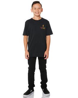 BLACK KIDS BOYS VOLCOM TOPS - C5011973BLK