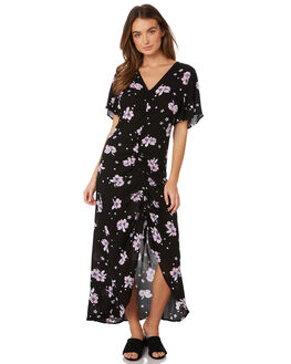 FLORAL BOUQUET PRINT WOMENS CLOTHING SASS DRESSES - 12790DWSSMUL