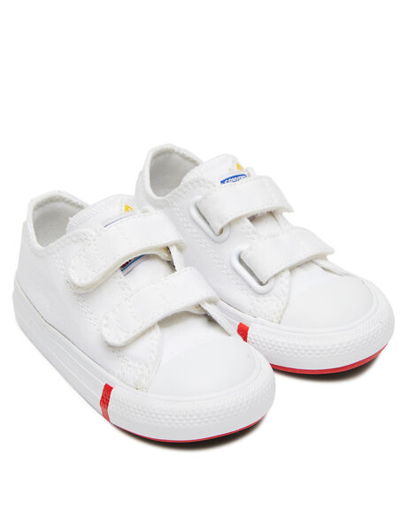 WHITE KIDS BOYS CONVERSE SNEAKERS - 766994CWHT