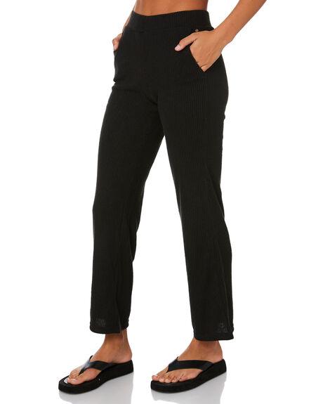 BLACK WOMENS CLOTHING RUSTY PANTS - PAL1197BLK