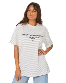 MUSHROOM WOMENS CLOTHING STUSSY TEES - ST105110_MUSH