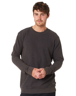 BLACK MENS CLOTHING RVCA JUMPERS - R393153BLACK
