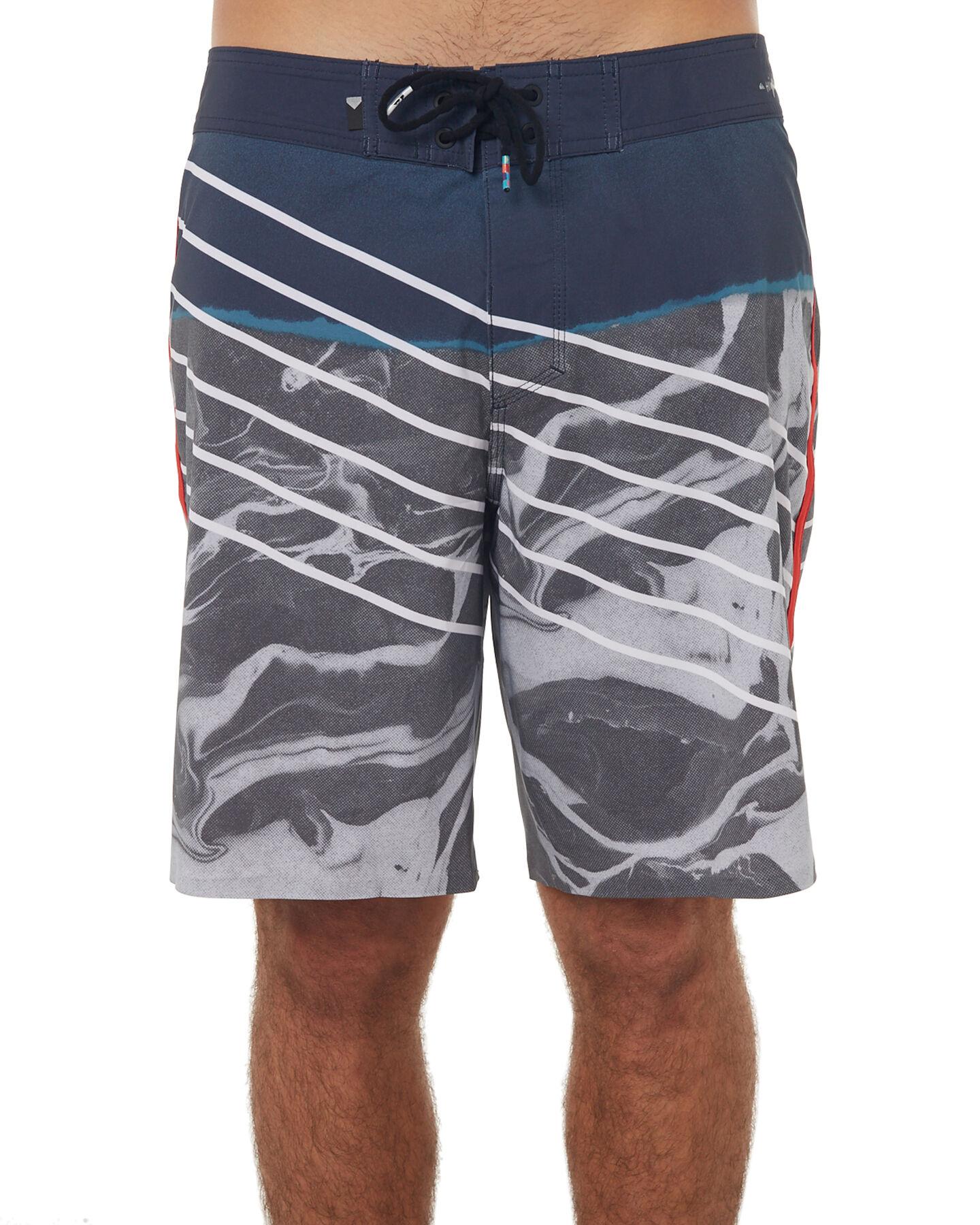 461650757f Board Shorts Swim Quiksilver Mens Highline Lava Slash 19 Swim Trunk Board  Shorts