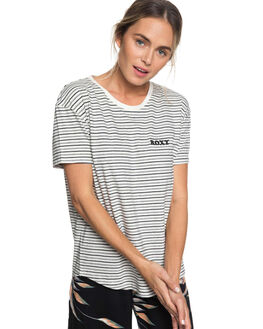 ANTHRACITE WOMENS CLOTHING ROXY TEES - ERJZT04427KVJ3