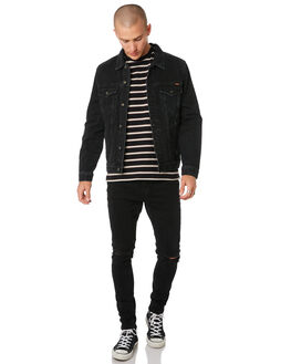 RECORD BLACK MENS CLOTHING WRANGLER JACKETS - 901554LJ3