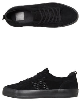 BLACK MENS FOOTWEAR HUF SKATE SHOES - VC00054BLK