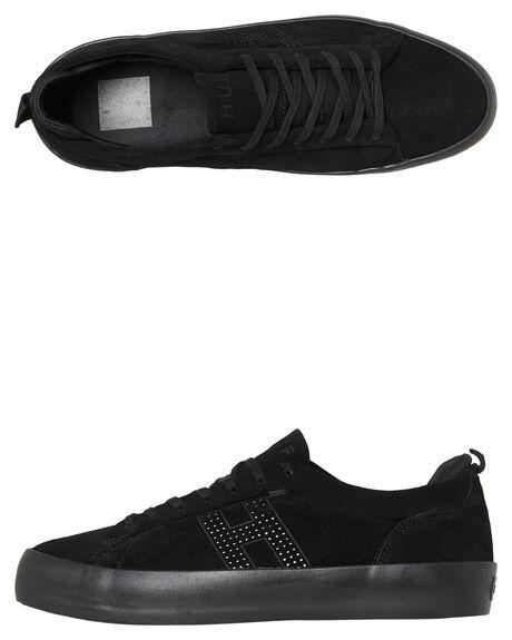 BLACK MENS FOOTWEAR HUF SKATE SHOES - VC00054BLK