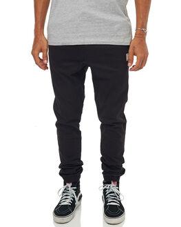 BLACK MENS CLOTHING RUSTY PANTS - PAM0690BLK