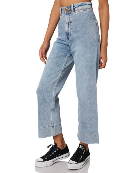 AGED BLUE WOMENS CLOTHING THRILLS JEANS - WTDP-433EAABLU