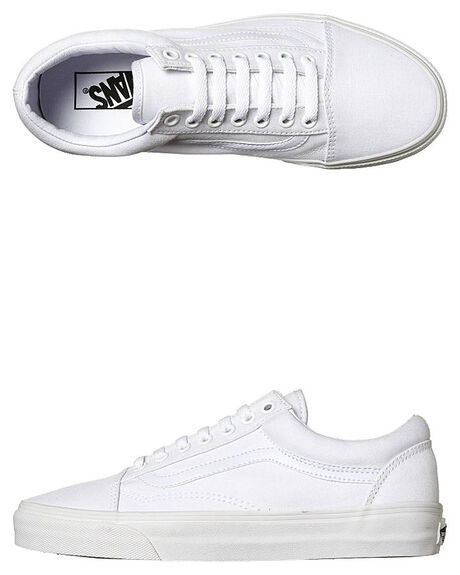 120efbb249 Vans Mens Old Skool Shoe - White