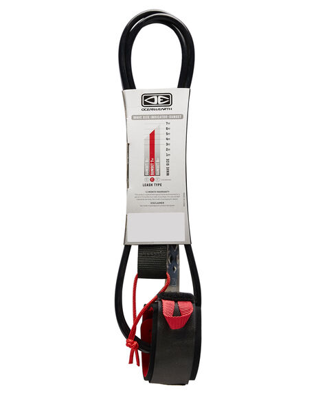 BLACK BOARDSPORTS SURF OCEAN AND EARTH LEASHES - LS70BLK