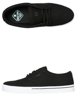 BLACK WHITE MENS FOOTWEAR ETNIES SNEAKERS - 4101000323992
