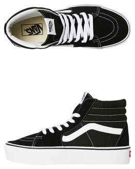 BLACK WOMENS FOOTWEAR VANS SNEAKERS - SSVNA3TKN6BTBLKW