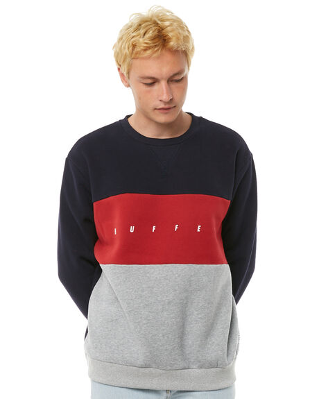 NAVY MENS CLOTHING HUFFER JUMPERS - MCR81S301NVY