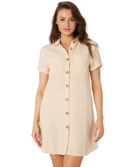 PEACH WOMENS CLOTHING RHYTHM DRESSES - OCT19W-DR07-PEA