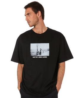 BLACK MENS CLOTHING LOWER TEES - LO20Q1MTS17BLK