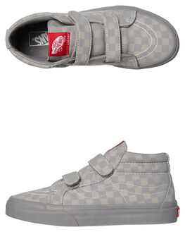 GRAY GRAY KIDS BOYS VANS SNEAKERS - VNA346YQ1AGRY