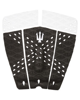 BLACK WHITE SURF HARDWARE FAR KING TAILPADS - 1201BLKWH