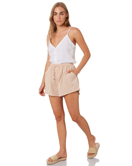 TAUPE WOMENS CLOTHING THE HIDDEN WAY SHORTS - H8201195TAUPE