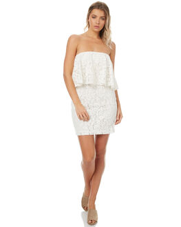 WHITE WOMENS CLOTHING MINKPINK DRESSES - MP1706472WHT