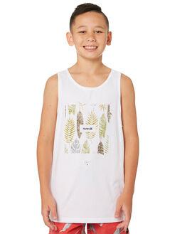 WHITE KIDS BOYS HURLEY TOPS - AR4110-100