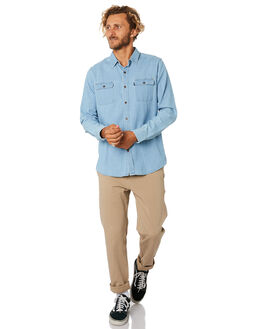 LIGHT BLUE MENS CLOTHING RIP CURL SHIRTS - CSHAD91080
